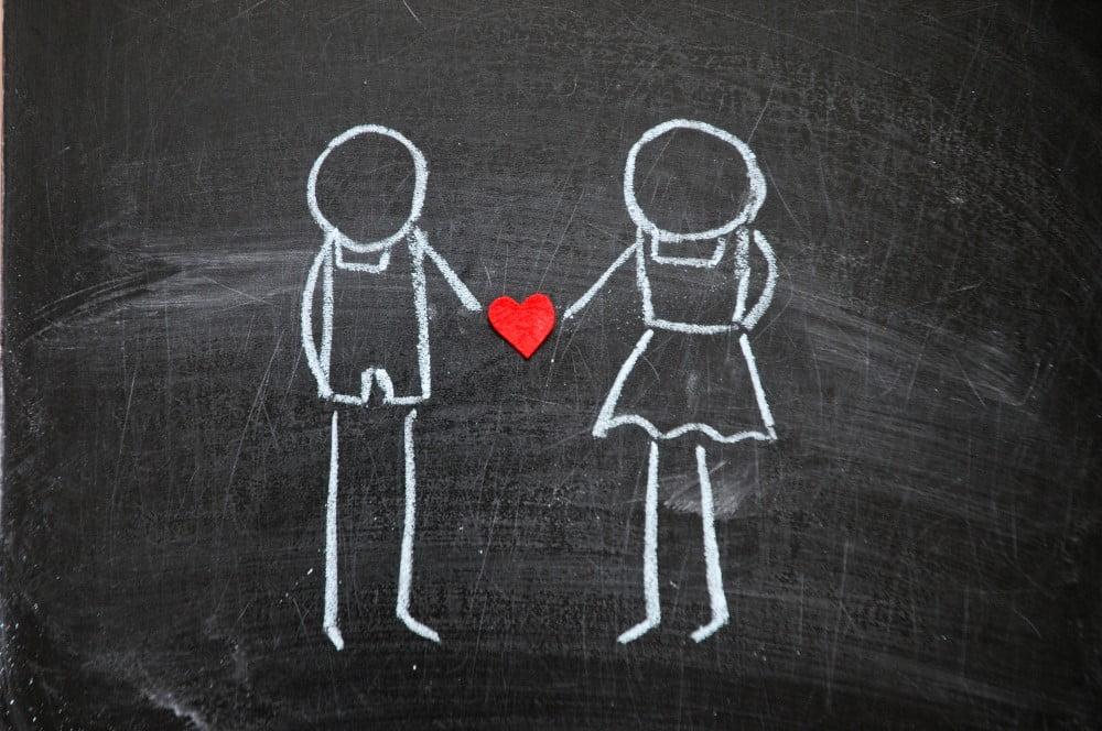 Skitse der viser kærlighed
